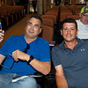 (L-R): Buyer George Sharp with trainer Caio Caramori after buying Hip 647 Front Run the Fed from Elite Sales<br /> Scenes, people and horses at The July Sale at Fasig-Tipton near Lexington, Ky. on July 12, 2021.