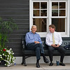 (L-R): Bill Parcells and Max Hodge<br /> Sales scenes at Fasig-Tipton in Saratoga Springs, N.Y. on Aug. 10, 2021.