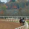 Robbie Medina training horses at Blackwood Stables near Versailles, Ky.  on October 22, 2020.