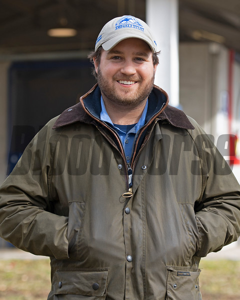 A Flying Start graduate, Conrad Bandorof now is the Vice President of Denali Stud near Paris, Ky and was photographed onsite at Denali's Fasig-Tipton Winter Mixed consignment on Feb. 6, 2021.
