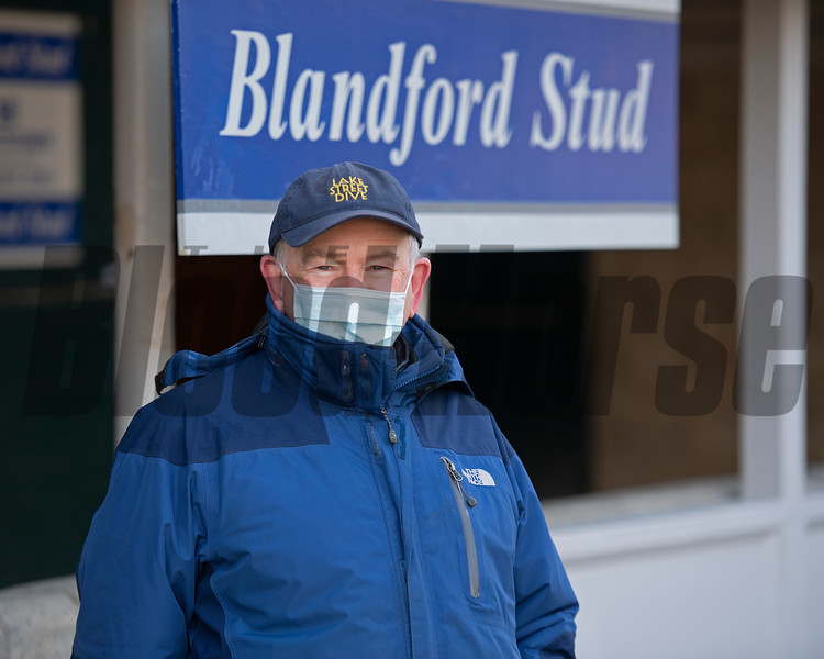 Padraig Campion with Blandford Stud<br /> Keeneland January Sales at Keeneland near Lexington, Ky., on Jan. 10, 2021.