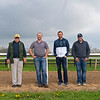 Caption: (L-R): Steve Johnson, Erik Johnson, Matt Bowling, Kevin Noltemeyer<br /> Training at Silver Springs Training, part of Silver Springs Stud, near Lexington, Ky.,  on April 8, 2020 Silver Springs in Lexington, KY.