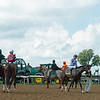 Parading before turf race 2<br />  at Keeneland on Oct. 8, 2021.