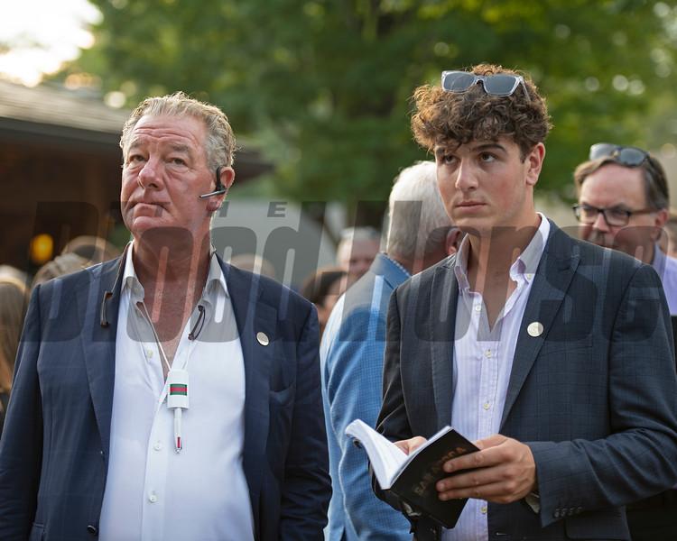 (L-R): Paul and Charles Shanahan<br /> Sales scenes at Fasig-Tipton in Saratoga Springs, N.Y. on Aug. 9, 2021.
