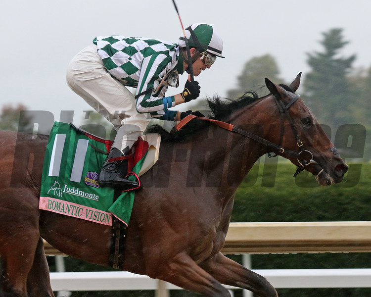 Romantic Vision with Brian Hernandez Jr. wins the Juddmonte Spinster (G1) at Keeneland.