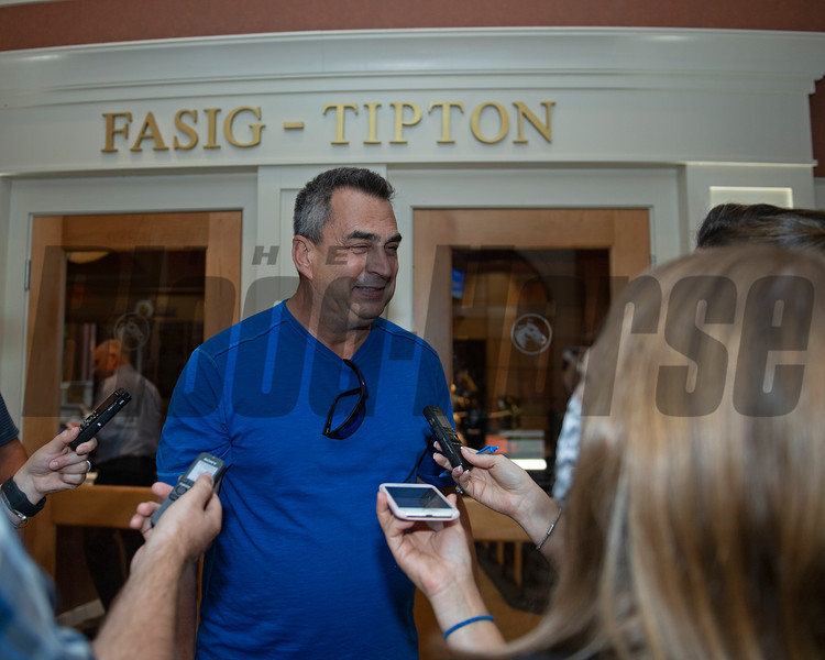 George Sharp buyer of Hip 647 Front Run the Fed from Elite Sales<br /> Scenes, people and horses at The July Sale at Fasig-Tipton near Lexington, Ky. on July 12, 2021.