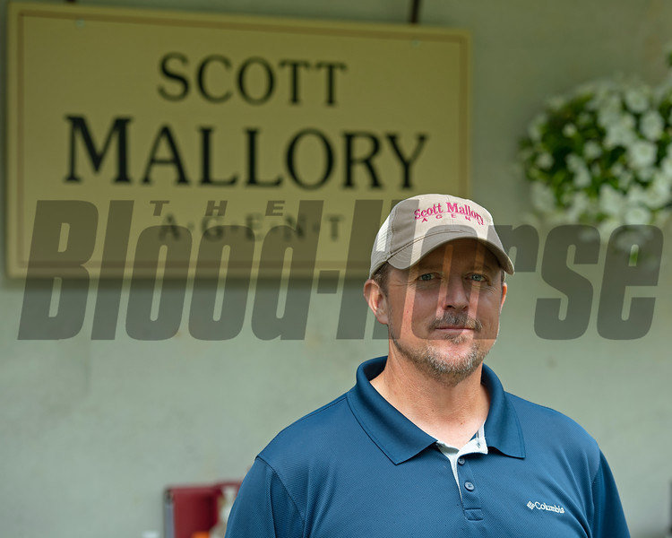 Scott Mallory at Scott Mallory consignment, agent for Spendthrift Farm LLC.<br /> Scenes, people and horses at The July Sale at Fasig-Tipton near Lexington, Ky. on July 10, 2021.