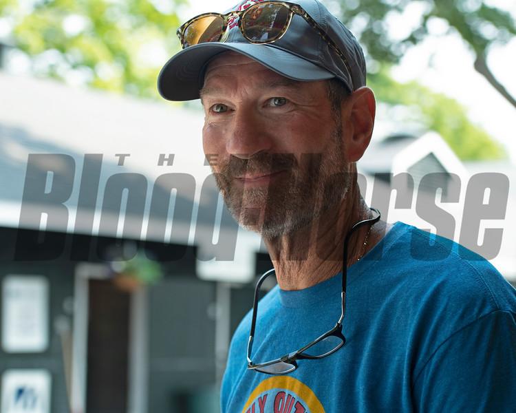 George Isaacs<br /> Saratoga training and sales scenes at Saratoga Oklahoma track and Fasig-Tipton in Saratoga Springs, N.Y. on Aug. 6, 2021.