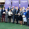 Connections of Talismanic celebrate after winning the Breeders Cup Turf on November 4, 2017. Photo by Anne Eberhardt.