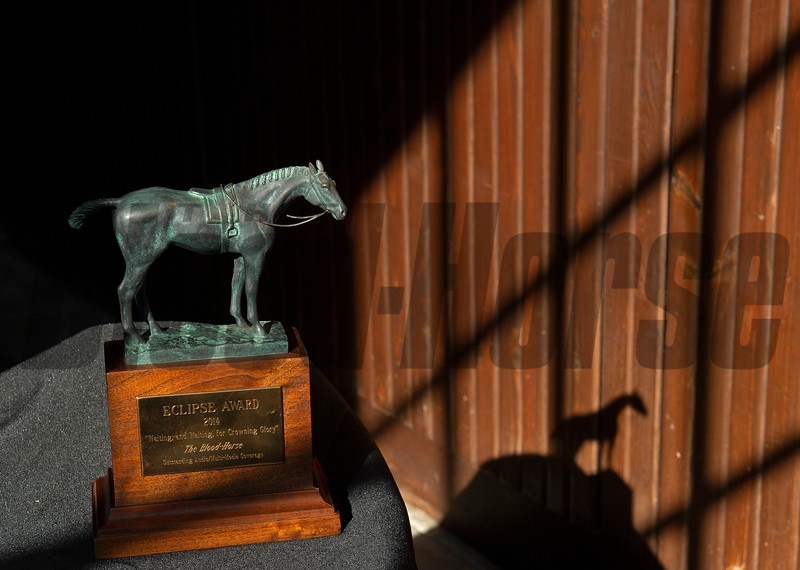 Eclipse Award scenes at Spendthrift Farm near Lexington, Ky., on Dec. 22, 2020.
