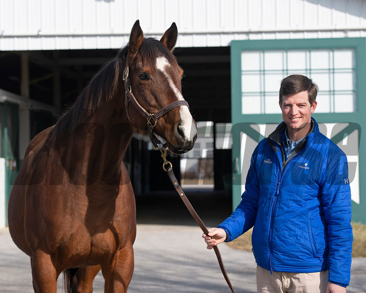 A Flying Start graduate, Gerry Duffy now is the Stonerside and Raceland Farm Manager for Godolphin near Paris, Ky on Feb. 6, 2021.