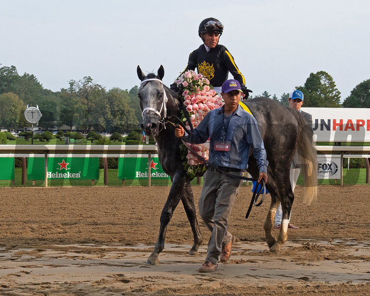 Knicks Go with Joel Rosario wins the Whitney (G1). <br /> Saratoga racing scenes at Saratoga in Saratoga Springs, N.Y. on Aug. 7, 2021.