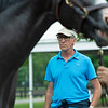 Alistair Roden looking at a mare. Scenes, people and horses at The July Sale at Fasig-Tipton near Lexington, Ky. on July 11, 2021.