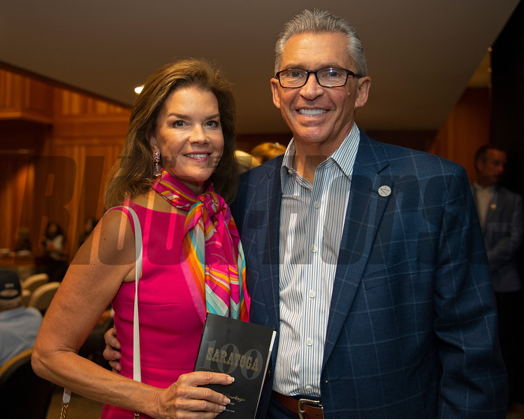 Mr. and Mrs. Kenny Troutt<br /> Sales scenes at Fasig-Tipton in Saratoga Springs, N.Y. on Aug. 9, 2021.