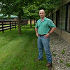 Caption: Heath in the training barn complex<br /> A native of Oklahoma, Heath started working at WinStar Farm on October 10, 2014, and became the farm trainer in October of 2018. Presently he has about 100 horses in training at the WinStar Farm training center, where they have a 7 1/2-furlong main track and 3/4 of a mile undulating turf gallop.<br /> Daily Life series on Destin Heath, farm trainer at WinStar Farm on Aug. 11, 2020 WinStar Farm in Versailles, KY.