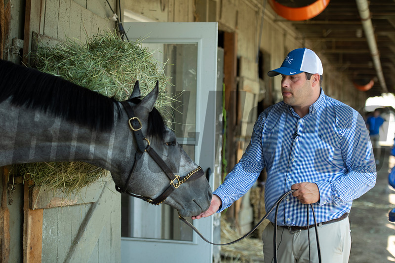 Essential Quality with Brad Cox<br /> Saratoga racing scenes in Saratoga Springs, N.Y. on Aug. 5, 2021.