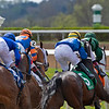 going into first turn of Race 6, with #5 Sometimes Always and Luis Saez<br /> Scenes at Keeneland near Lexington, Ky., on April 15, 2021. .