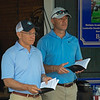 (L-R): Bayne Welker and Grant Williamson<br /> Saratoga training and sales scenes at Saratoga Oklahoma track and Fasig-Tipton in Saratoga Springs, N.Y. on Aug. 6, 2021.
