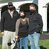 (L-R): Ned Toffey, Rickelle and Corey Nelson. Rickelle Nelson with Authentic at Spendthrift Farm near Lexington, Ky., on Dec. 9, 2020.