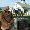 by the Nashua statue done by Liza Todd <br /> John Williams at Spendthrift Farm near Lexington, Ky. on November 18, 2020.