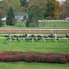 Race scene at Keeneland on October 3, 2020.