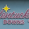Caption: sign on front of buidling<br /> Ted Nicholson, general manager and senior Vice President at Kentucky Dpwns near Franklin, Ky. on July 28, 2020 Kentucky Downs in Franklin, KY.