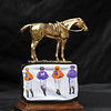Eclipse Horse of the Year, award with Spendthrift Farm mask.<br /> Eclipse Award images near Versailles, Ky., on Jan. 5, 2021.