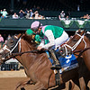 (L-R): Royal Flag, winner Bonny South, and Graceful Princess. Bonny South with Florent Geroux wins the Baird Doubledogdare (G3) at Keeneland near Lexington, Ky., on April 16, 2021. .