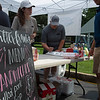 """Food pop up tent """"Walter Frank's""""<br /> Scenes, people and horses at The July Sale at Fasig-Tipton near Lexington, Ky. on July 12, 2021."""