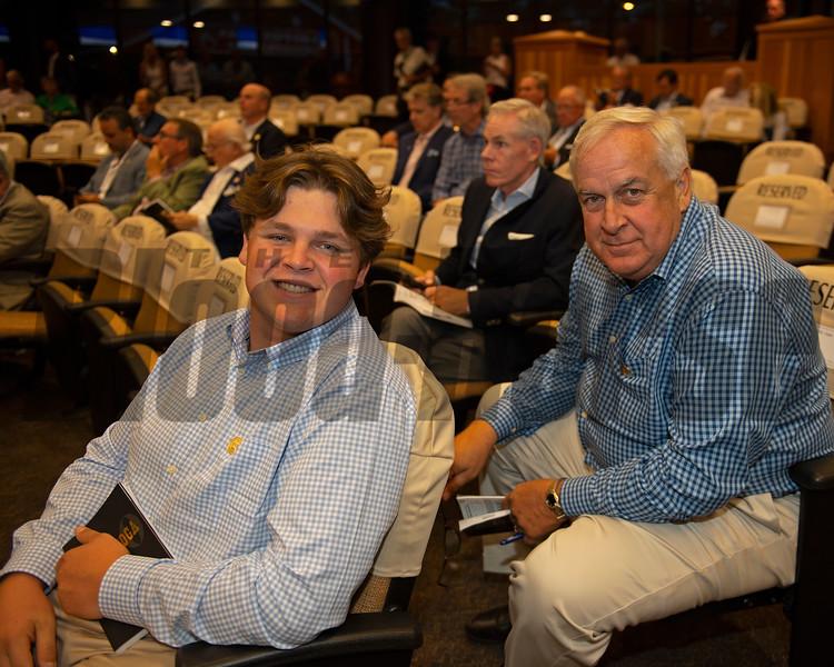 (L-R): Bernie and Bernie Sams<br /> Sales scenes at Fasig-Tipton in Saratoga Springs, N.Y. on Aug. 10, 2021.