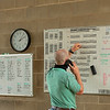 Caption:  checking and re-arranging sets through the afternoon. <br /> A native of Oklahoma, Heath started working at WinStar Farm on October 10, 2014, and became the farm trainer in October of 2018. Presently he has about 100 horses in training at the WinStar Farm training center, where they have a 7 1/2-furlong main track and 3/4 of a mile undulating turf gallop.<br /> Daily Life series on Destin Heath, farm trainer at WinStar Farm on Aug. 11, 2020 WinStar Farm in Versailles, KY.