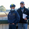 (L-R): Florent Geroux and Doug Bredar<br /> Kentucky Derby and Oaks horses, people and scenes at Churchill Downs in Louisville, Ky., on April 26, 2021.