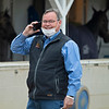 Racing Secretary Ben Huffman in the barn area.<br /> Kentucky Derby and Oaks horses, people and scenes at Churchill Downs in Louisville, Ky., on April 24, 2021.
