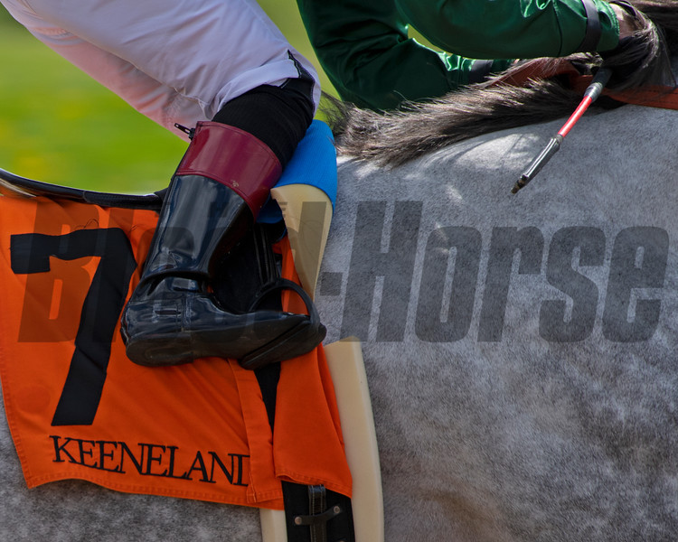closeup of Joel Rosario on Abdan in Race 6. <br /> Scenes at Keeneland near Lexington, Ky., on April 15, 2021. .