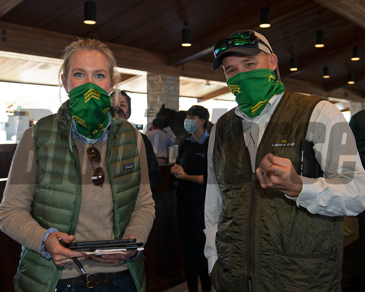 (L-R): Allaire Ryan and Chance Timm<br /> Sales horses at the Keeneland November Sale at Keeneland in Lexington, Ky. on November 10, 2020.