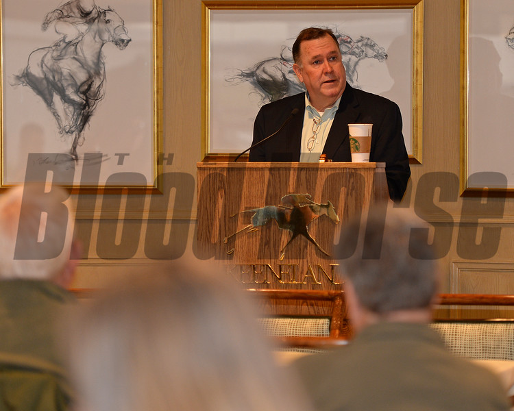 Ed Martin with RCI<br /> RCI seminar and Morning works and scenes at Keeneland in Lexington, Ky., on April 3, 2016. plus farm scenes.