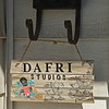 studio sign hanging from mailbox<br /> Dafri aka Jason Thompson, an American artist from Kentucky who specializes in multi-mediums and various subjects including a focus on black jockeys and history, in his art studio on March 2, 2021.