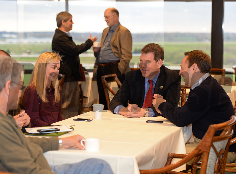 RCI Scene and attendees.<br /> RCI seminar and Morning works and scenes at Keeneland in Lexington, Ky., on April 3, 2016. plus farm scenes.