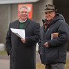 (L-R): Keeneland auctioneers Kurt Becker and Ryan Mahan.<br /> Keeneland January Sales at Keeneland near Lexington, Ky., on Jan. 9, 2021.