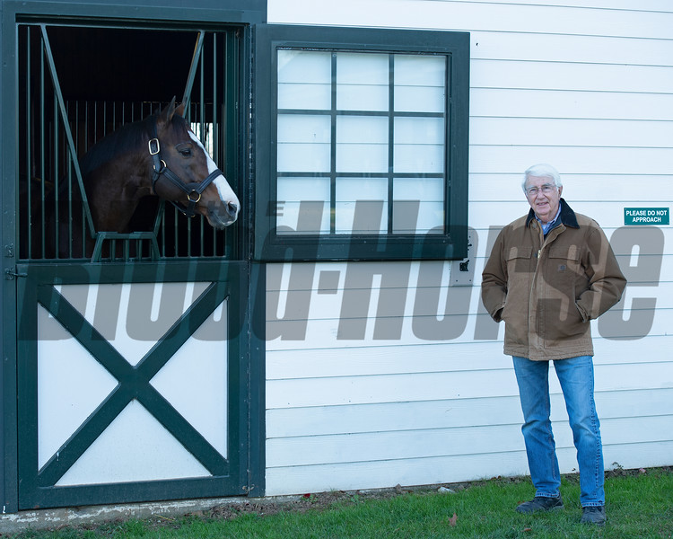 outside the stall of Into Mischief<br /> John Williams at Spendthrift Farm near Lexington, Ky., and at his home near Versailles, Ky. on November 18, 2020.