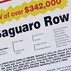 Hip 675 Saguaro Row promotional sign of pedigree at Blake-Albina.<br /> Fasig-Tipton February Winter Mixed sale on Feb. 7, 2021.