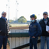 (L-R): Bob Baffert, Florent Geroux, and Doug Bredar<br /> Kentucky Derby and Oaks horses, people and scenes at Churchill Downs in Louisville, Ky., on April 26, 2021.