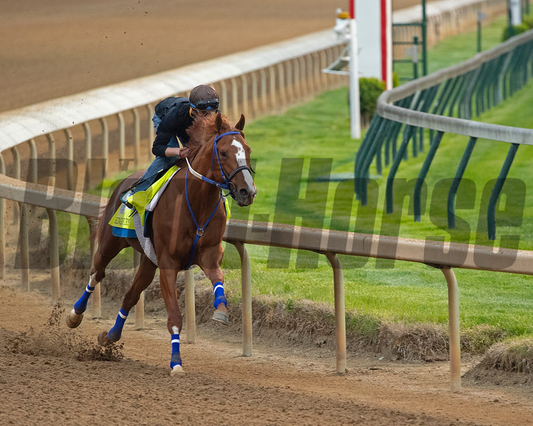 King Fury with Brian Hernandez Jr. <br /> Kentucky Derby and Oaks horses, people and scenes at Churchill Downs in Louisville, Ky., on April 24, 2021.