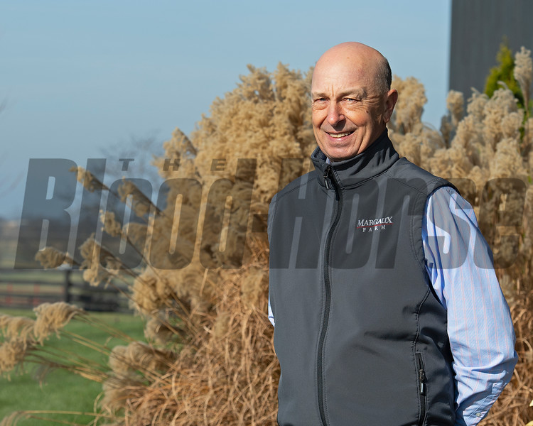 General manager Richard Budge at Jim and Susan Hill's Margaux Farm near Midway, Ky., on Dec. 8, 2020.