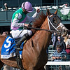 Bonny South with Florent Geroux wins the Baird Doubledogdare (G3) at Keeneland near Lexington, Ky., on April 16, 2021. .