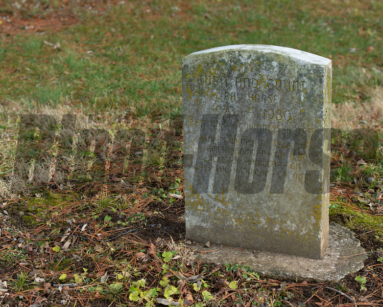 Cemetery with Turn and Count headstone at Margaux near Midway, Ky., on Dec. 18, 2020.