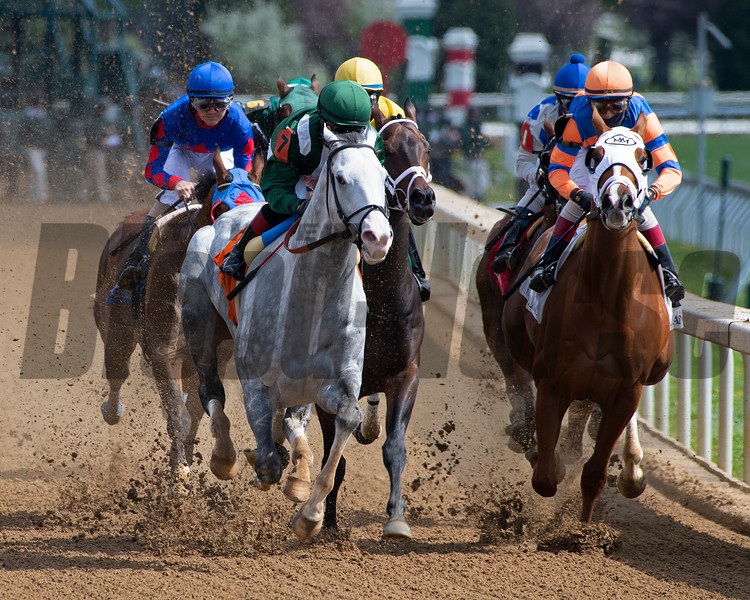 Race 6 stretch, first time by, #7 Abdan (gray on left) and French Toast with John Velazquez (on right)<br /> Scenes at Keeneland near Lexington, Ky., on April 15, 2021. .