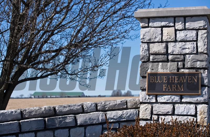 farm entrance<br /> Scenes at Blue Heaven Farm near Versailles, Ky. on Feb. 23, 2021.