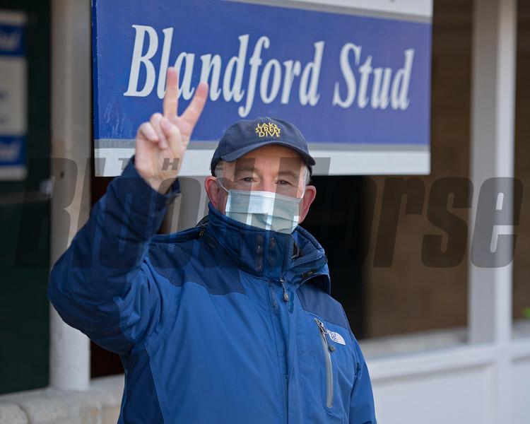 Padraig Campion at Blandford Stud <br /> Keeneland January Sales at Keeneland near Lexington, Ky., on Jan. 10, 2021.
