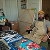 Talking about his projects in his studio. <br /> Dafri aka Jason Thompson, an American artist from Kentucky who specializes in multi-mediums and various subjects including a focus on black jockeys and history, in his art studio on March 2, 2021.